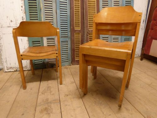 Vintage French School Chairs - CHECK FOR AVAILABILITY